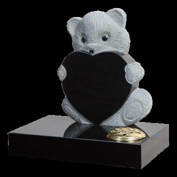 Teddy Heart Headstone - ART6