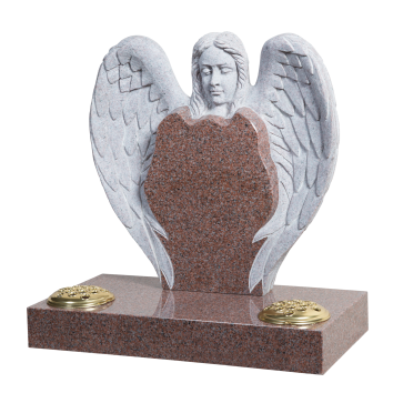 Angel Head & Wings Headstone - ART12