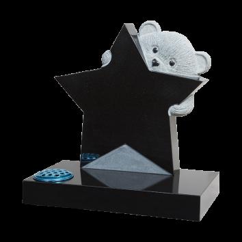 Teddy Bear & Star Headstone - ART4
